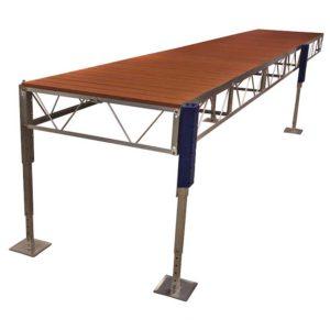 aluminum dock | stationary jack dock
