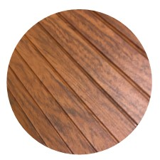 brown aluminum decking