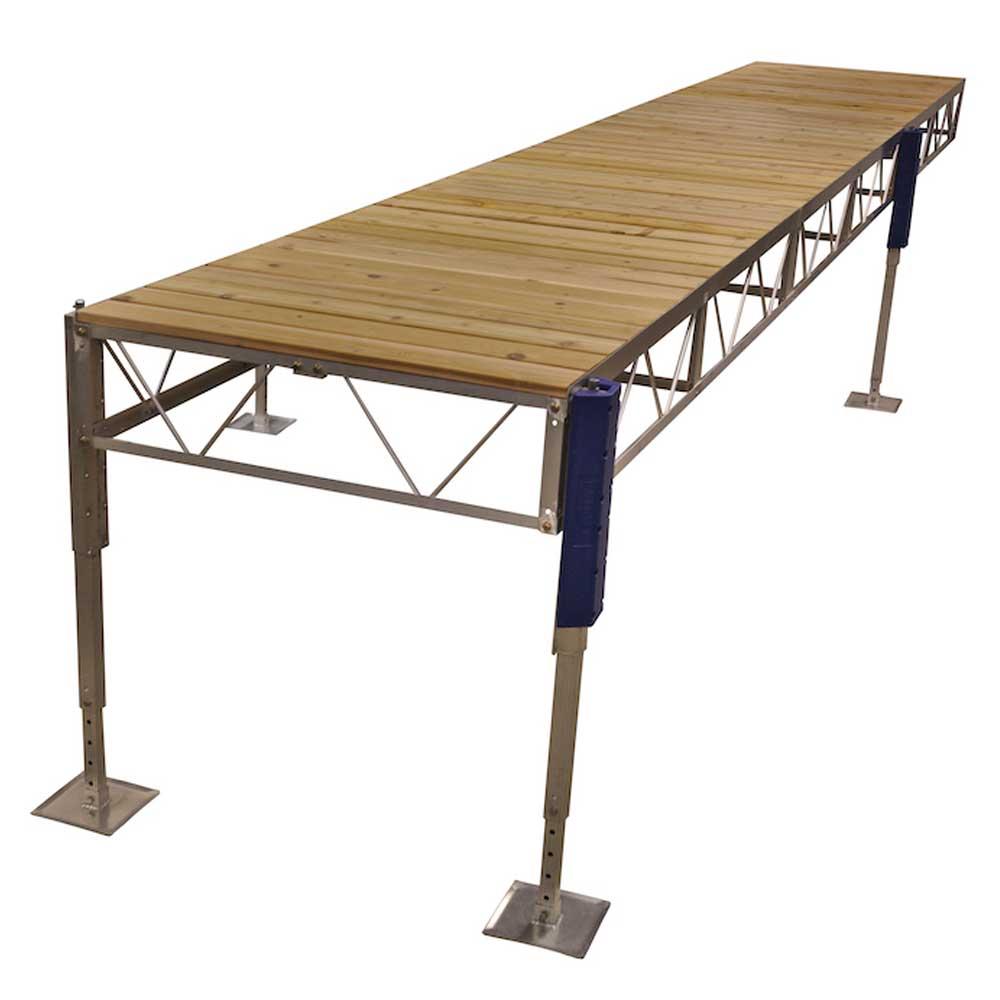 straight jack dock cedar decking