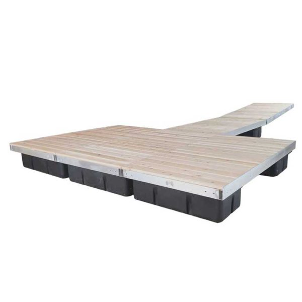 t-shaped floating dock cedar