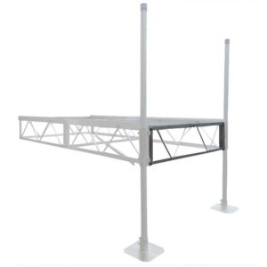 Dock frame aluminum end rail