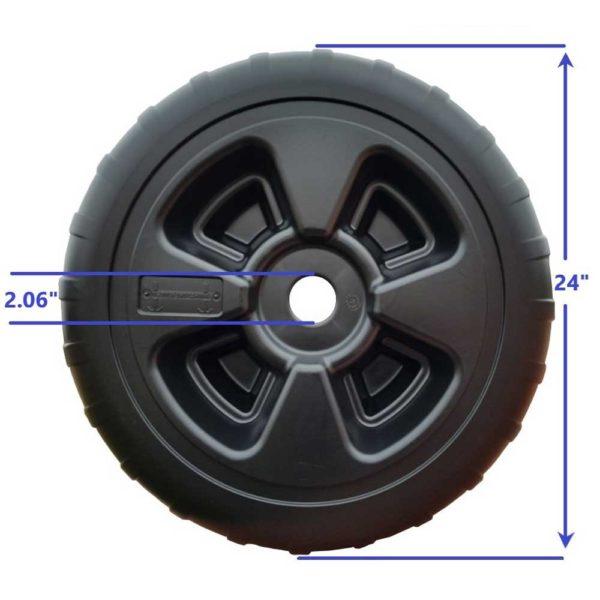 Dock Wheel with measurements